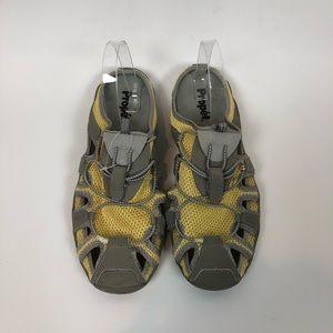 Propet Womens 11 Grey Yellow Sandal Sneaker